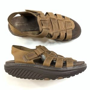 Skechers Womens Shape Up Sandals Brown Size 8.5